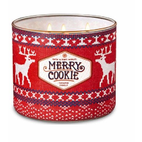 Bath and Body Works MERRY COOKIE 2018 Holiday Collection 3 Wick 14.5 oz Candle