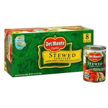 Del Monte Stewed Tomatoes 15.4 oz. can, 8 ct. A1