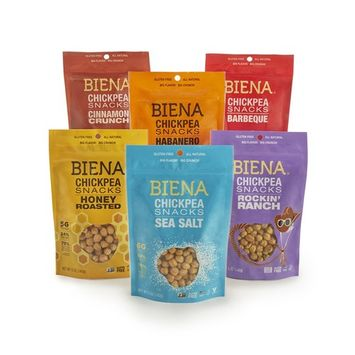 BIENA 5oz Variety Pack (Sea Salt, Rockin' Ranch, Honey Roasted, Barbecue, Habanero, Cinnamon)
