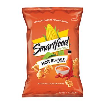 Smartfood Hot Buffalo Flavored Popcorn, 7 oz Bag