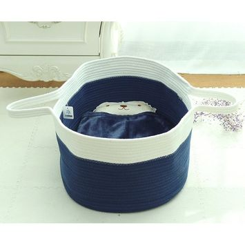 ICEBLUE Spacious Soft Moses Basket Cradle Bedding Set Nursery Storage Basket Toy Basket Baby Shower gift set (for Baby Boy)