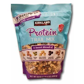 Kirkland Signature Protein Trail Mix- Granola, Almonds, Pumpkin Seeds, Quinoa, Chocolate, Blueberry