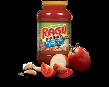 Ragu Chunky Tomato, Garlic & Onion Sauce 24 oz.