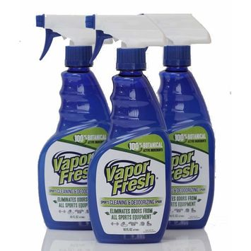 Vapor Fresh Natural Cleaning and Deodorizing Spray - Great for Sports Pads, Yoga Mats, Shoes, Boxing Gloves and Gym Equipment, 16 Ounces