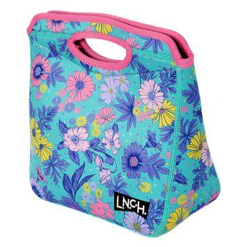 L.N.C.H. Zaza Tote Lunch Bag, Turquoise/Blue (Turq/Aqua)