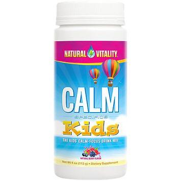 Natural Vitality Calm Kids Drink Powder, Natural Berry, 4 Oz