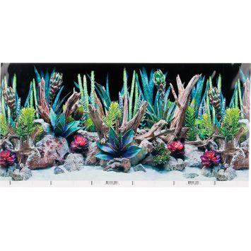 SeaView Double-Sided Desert Dream & Deep Flora Terrarium Background, 24