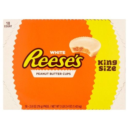 Reese's White Peanut Butter Cups King Size, 2.8 Oz., 18 Count