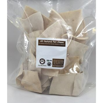Top Dog Chews Beef Cheek Chips - 50 Pack Rawhide Thick Chips