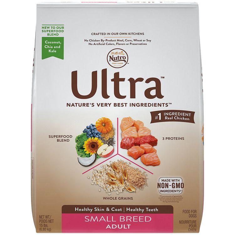Nutro Ultra Small Breed Adult Dog Food, 15 lb