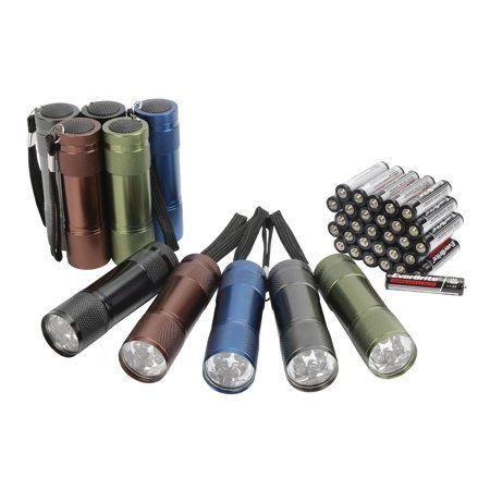 Ozark Trail Aluminum LED Flashlights, 10 Pack
