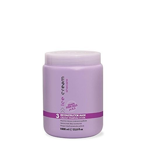 INEBRYA Ice Cream SHECARE RECONSTRUCTOR MASK (WITH GRAPE STEM CELLS) 1000 ML /33.8OZ