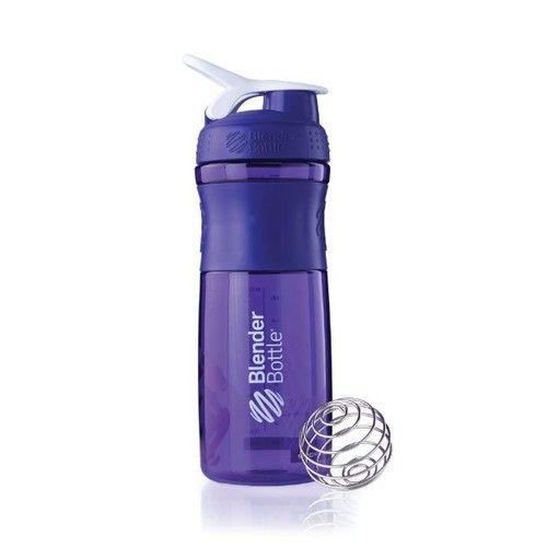 BlenderBottle SportMixer Tritan Sleek 28oz Purple/White