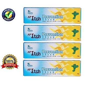 Itch Stopping Cream, ★ Extra Strength Anti-itch Cream, ★ Fast Relief and Prevention Cream From Itching. ★ Clotrimazole Anti-fungal Cream 1% USP Compare to Lotrimin. ★ Cures Athletes Foot, Jock Itch and Ringworm. ★ Antifungal Properties - ★ Value Pack of 4 X 25 Gms (100 Gms - 3.53 Ounces) - Apollo Pharmacy