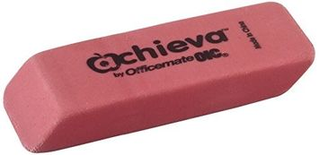 Officemate OIC Achieva Wedge Pencil Erasers, 3 in a Pack, Pink (30235)