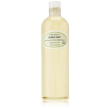 Dr. Adorable - 100% Pure Kukui Nut Oil Organic Cold Pressed Natural Hair Skin - 12 oz