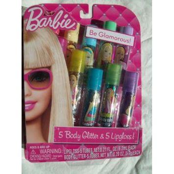 Barbie 5 Body Glitter & 5 Lip Gloss!