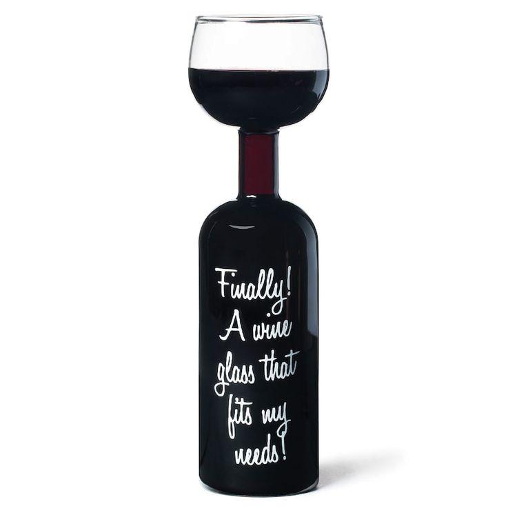 Wine Bottle Glass, Multicolor
