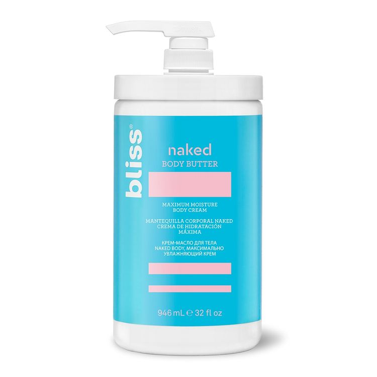 Bliss Naked Body Butter Unscented Moisturizer Professional Size
