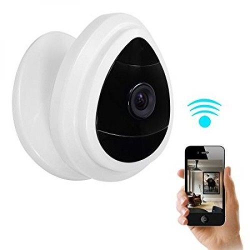 NexGadget Security Mini IP Camera, Baby Monitor Home Surveillance System, Wireless Security Camera With Built In Microphone, One Way Audio, Day Vision only, Motion Detection, Indoor WiFi Camera, White