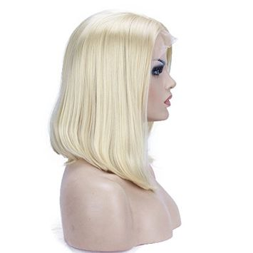 Aimole Blonde Bob Lace Front Wig Short Straight Wigs Synthetic Hair for Women 12 inches