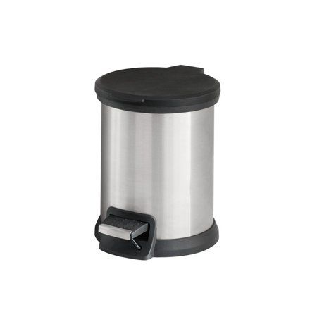 Mainstays 1.3 Gallon SS Round Step Can