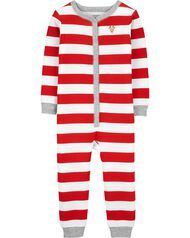 Carter's Christmas Snap-Up Thermal Footless PJs