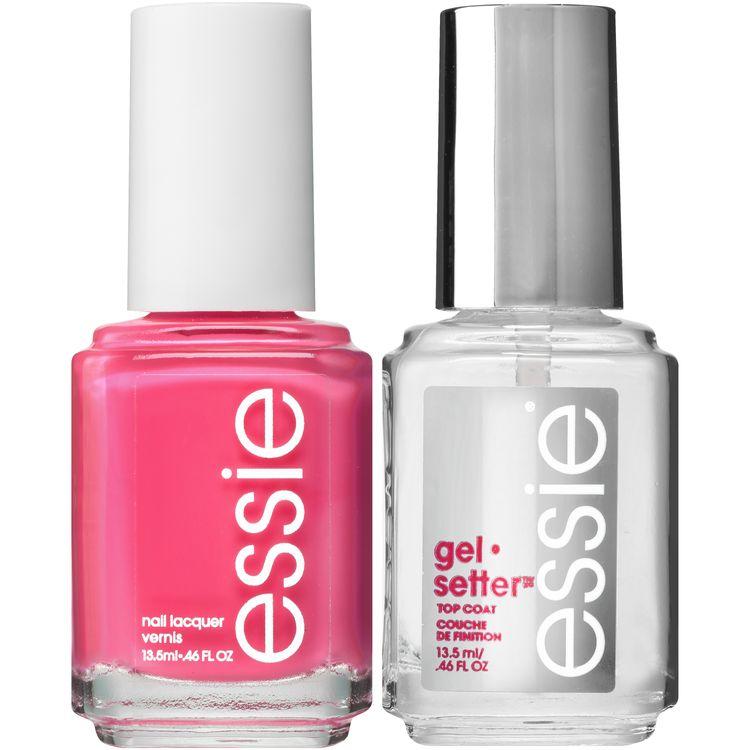 essie® gel-like color & shine kit mod square polish & gelsetter top coat