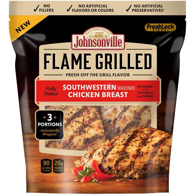 Johnsonville Flame Grilled Southwestern Seasoned Chicken Breast 9oz zip pkg