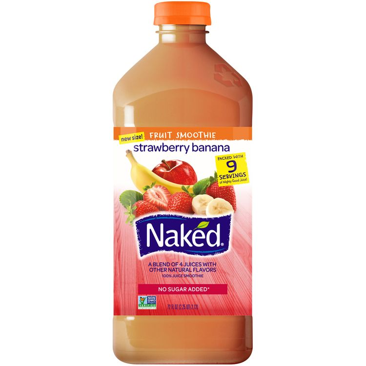 Naked® Strawberry Banana 100% Juice Smoothie