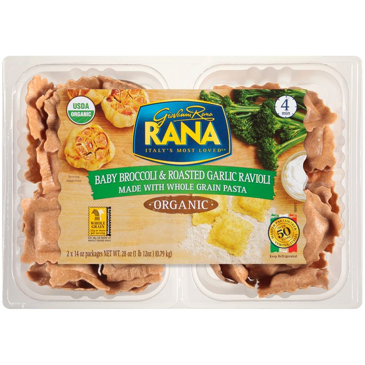 Rana™ Organic Baby Broccoli & Roasted Garlic Ravioli