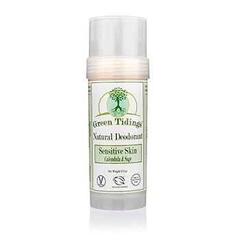 Green Tidings Natural SENSITIVE SKIN Deodorant, Calendula & Sage