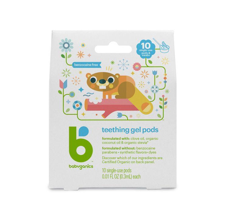 Babyganics Teething Gel Pods - 10ct