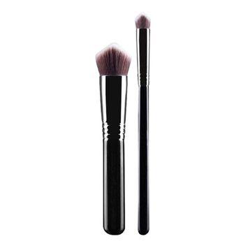 RNTOP 2PCS 3D Triangle Makeup Brush Set Blush Brush Premium Foundation Makeup Brush