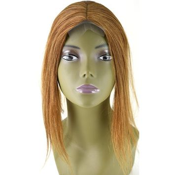 Invisible Lace Closure Natural Brazillian Virgin Remy 100% 12'' Human Hair Color: 30