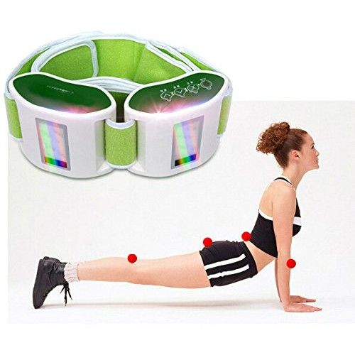 Dual Unit Adjustable Vibrating Weight Loss and Massage Therapy Muscle Training Belt