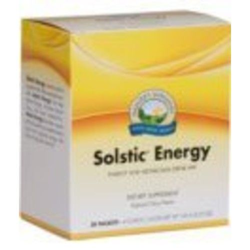 Nature's Sunshine Solstic Energy, 30 Packets   Energy Drink Powder in Individual Packets with 60mg of Natural Caffeine from Guarana Seed Extract