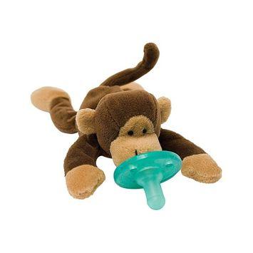 WubbaNub Monkey Pacifier, Brown
