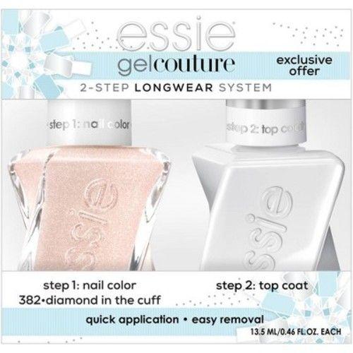 essie Gel Couture 2-step Longwear System Holiday Set Diamond in the Cuff - 0.92 fl oz