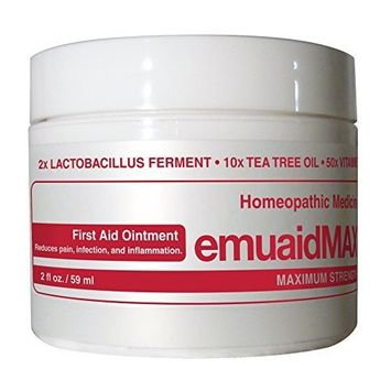 EmuaidMAX® Ointment - Antifungal, Eczema Cream. Maximum Strength Treatment. Use Max Strength for Athletes Foot, Psoriasis, Jock Itch, Anti Itch, Ringworm, Rash, Shingles and Skin Yeast Infection. [Frustration-Free Packaging]