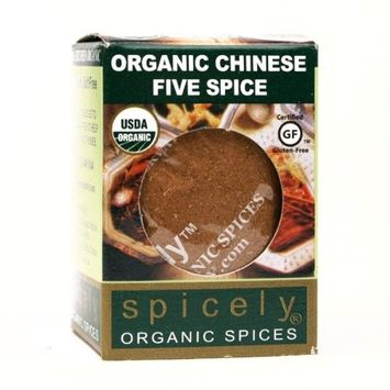 SPICELY Jar Organic Seasoning Chinese Five Spice, 1.8 OZ