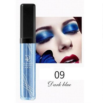 Liquid Glitter Eye Shadow,SMYTShop Long-lasting Makeup Liquid Smoky Eyeshadow Shimmer Cosmetic (Dark Blue)