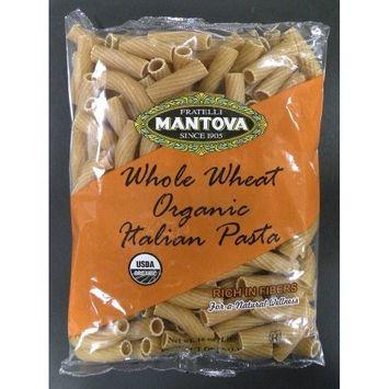 Mantova Organic Rigatoni, Whole Wheat, 1 Pound (Pack of 12)