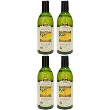 (4 PACK) - Avalon - Lemon Bath & Shower Gel   350ml   4 PACK BUNDLE by Avalon : Beauty