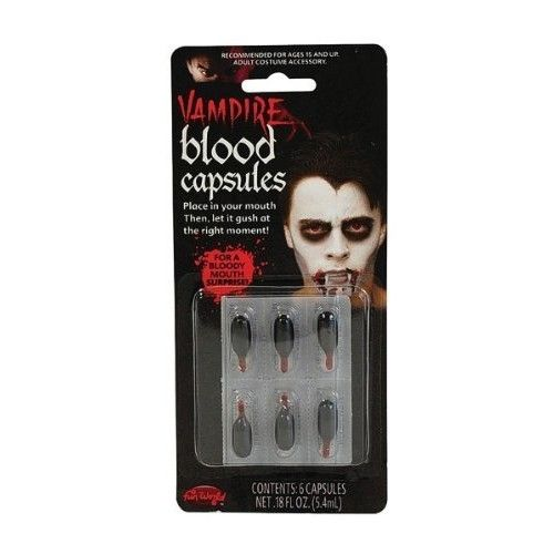 Blood Capsules, Liquid. (6 per card)