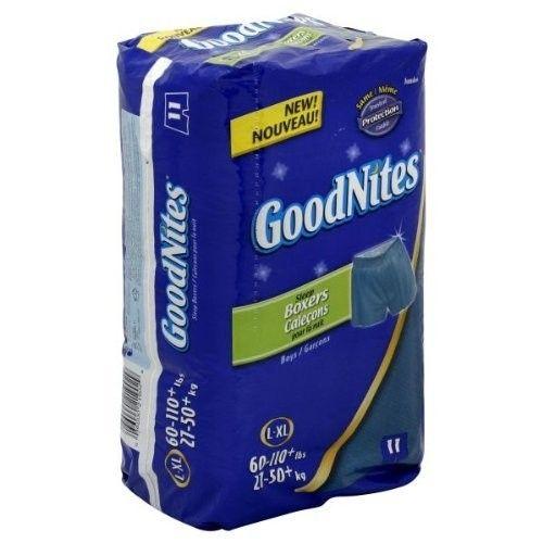 GoodNites Boys L-XL Sleep Boxers, 11 Ct (Pack of 2) Total 22 Boxers