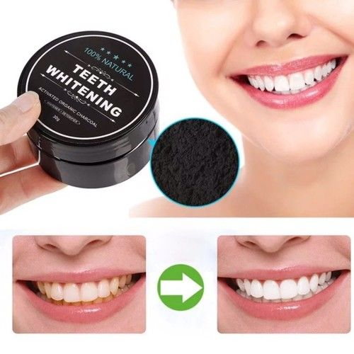 Teeth Whitening Charcoal Powder, Natural Activated Coconut Powder for Stronger Healthy Whitening Teeth