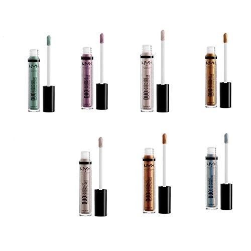 NYX Duo Chromatic Lip Gloss ~ Day Club, Lucid, Gypsy Dreams, Fairplay, Foam Party, Crushing It, Cocktail Party ~ Set of 7