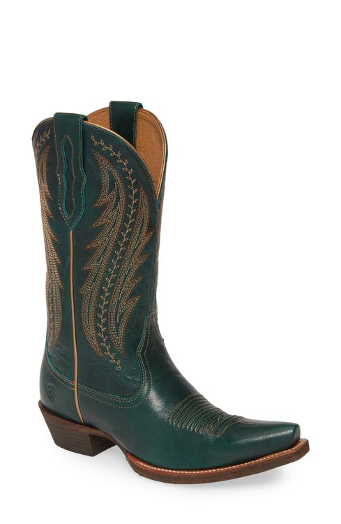 Women's Ariat Tailgate Western Boot, Size 8.5 M - Green