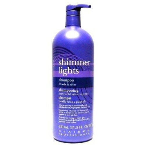 Clairol Shimmer Lights 31.5 oz. Shampoo (Blonde & Silver) (3-Pack) with Free Nail File